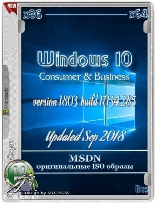 Windows 10 version 1803 (Updated Sep 2018) (Consumer & Business editions) (x86/x64) (Rus) MSDN by W.Z.T.