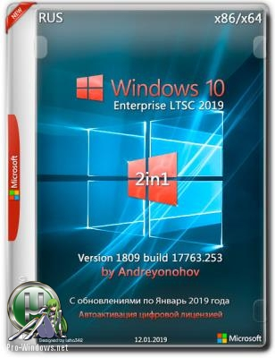 Windows 10 Enterprise LTSC 2019 17763.253 Version 1809 [2in1] DVD by Andreyonohov (x86-x64)