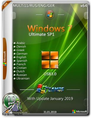 Windows 7 Ultimate SP1 x64 USB3.0 Jan2019 by TEAM OS